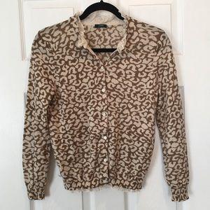 J. Crew Leopard Print Cardigan